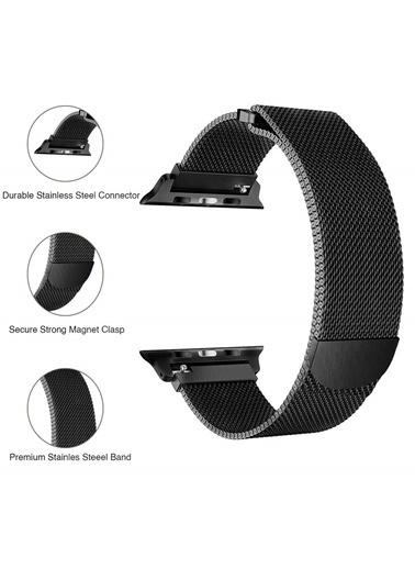 Apple Apple Watch 38-40mm Milano Hasır Çelik Kayış Siyah